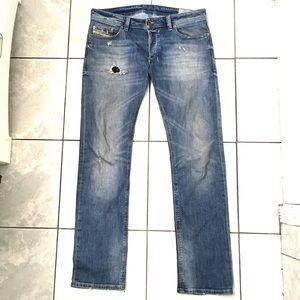 603c3310 Diesel. Diesel Safado Men's Indigo Slim Straight Jeans